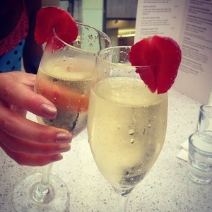 Lucy Mecklenburgh champagne glasses, Instagram, 20 July