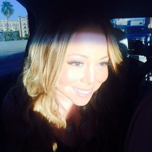 Mariah Carey goes on a selfie spree before attending the Hercules premiere. (23 July).