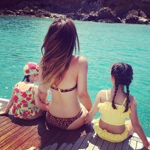 Myleene Klass on holiday with daughters, Instagram, 21 July