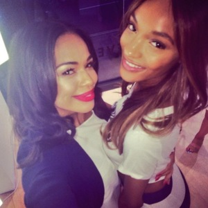 Sarah-Jane Crawford and Jourdan Dunn, French Connection launch party, Oxford Street, London, 23 July