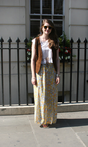 Reveal intern Adora shows off her boho style for street look, 23rd July 2014