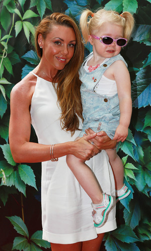 Michelle Heaton and daughter Faith at the Gala performance of 'Alice's Adventures in Wonderland'. 22 July 2014.