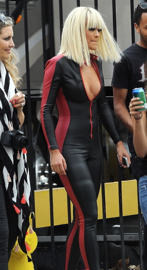Iggy Azalea and Rita Ora film the music video for their single 'Black Widow' in Hollywood. 20 July 2014.