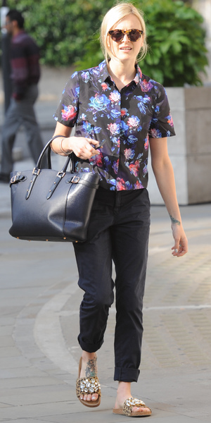Fearne Cotton spotted outside BBC Radio 1, London, 22 July