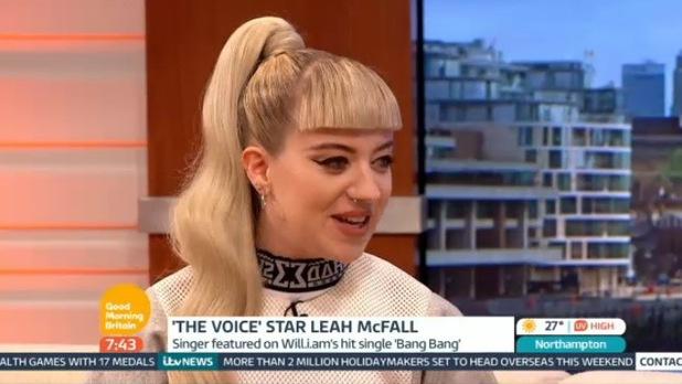 Leah McFall on 'Good Morning Britain' TV Programme, London, Britain - 25 Jul 2014.