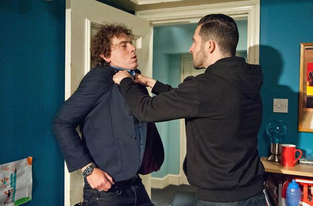 Emmerdale, Ross punches Gary, Mon 28 Jul