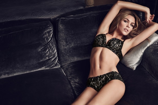 Abbey Clancy models the new Ultimo autumn/winter '14 lingerie range - July 2014