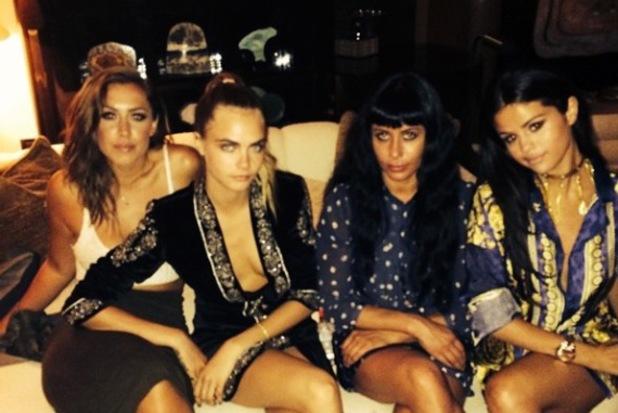 Selena Gomez celebrates birthday with Cara Delevingne and friends (23 July).