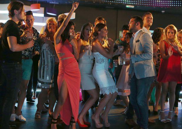 TOWIE cast hit dancefloor for penultimate episode, Evoke nightclub, Essex, 23 July