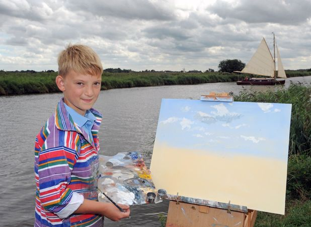 Kieron Williamson, Mini Monet makes £1.9million from his artwork