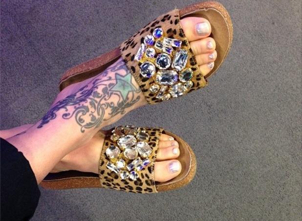 Fearne Cotton's leopard print sandals, Instagram, 22 July