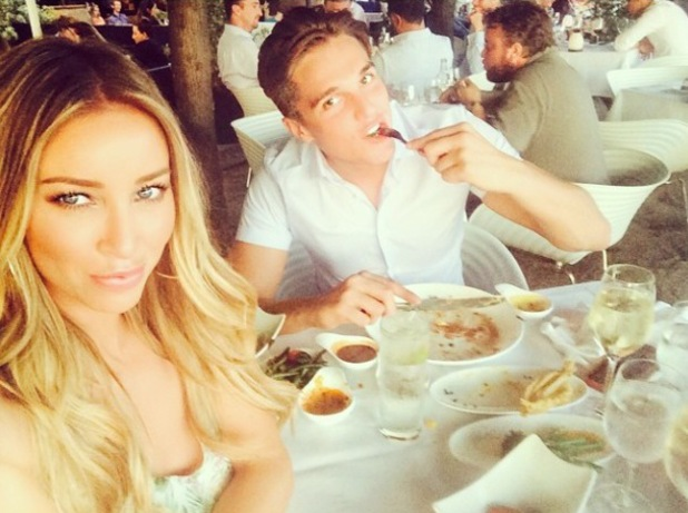 TOWIE's Lewis Bloor and Lauren Pope go on a romantic date on the Thames (23 July).