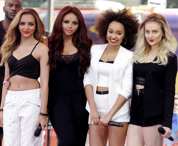 """Little Mix: Jesy Nelson, Perrie Edwards, Jade Thirlwall and Leigh Anne Pinnock. The """"Today Show"""" welcomes UK Sensation and all girl rock group """"Little Mix"""" to perform live as part of their Concert Series sponsored by Toyota. The girls put on a great show and the fans loved it, 17 June 2014"""