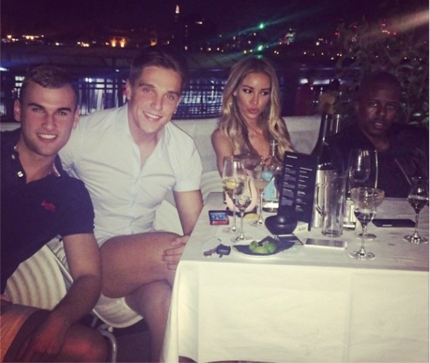 TOWIE's Lewis Bloor and Lauren Pope go on a romantic date on the Thames before being joined by friends (23 July).