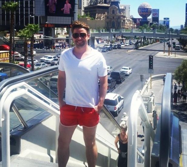 Joe McElderry visits Las Vegas for a summer holiday - 21 July 2014