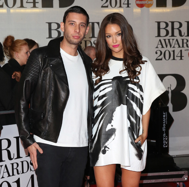 Example and wife Erin McNaught at the Brit Awards (Brit's) 2014 held at the O2 - Arrivals 02/19/2014 London, United Kingdom