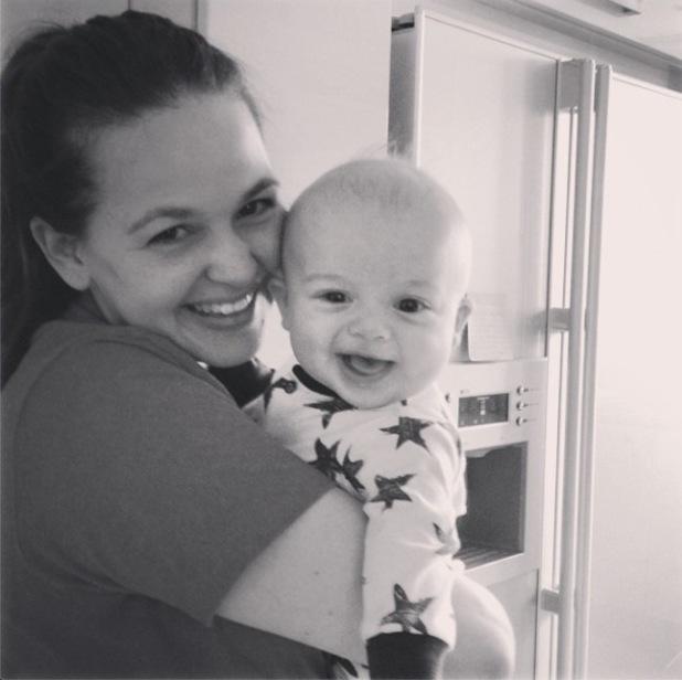 Giovanna Fletcher cuddles baby son Buzz in new photo (23 July).