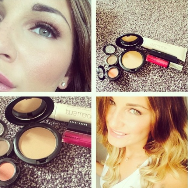 Sam Faiers posts a selfie along with the make-up products she used on Instagram - 20 July 2014