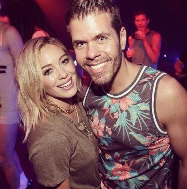Perez Hilton and Hilary Duff at Hilary's new single launch, Marquee Nightclub, New York, 24 July