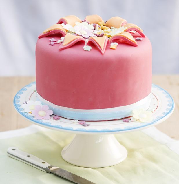 Exploding orange and rose cake