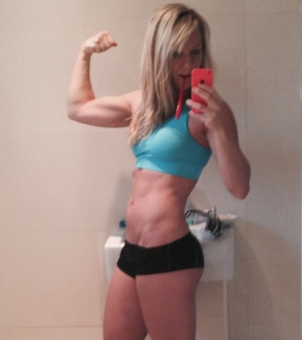Chloe Madeley shows off her pert bottom and biceps  - 21 July 2014