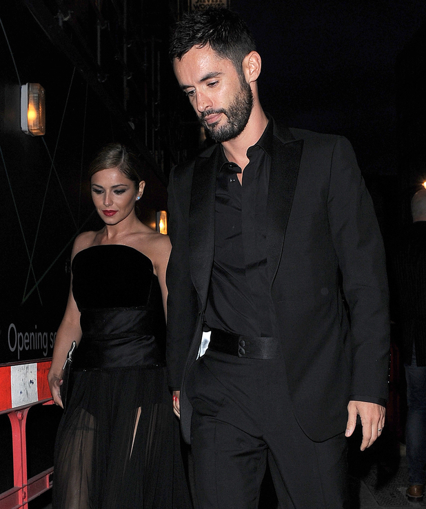 Cheryl Cole and her new husband, Jean-Bernard Fernandez-Versini, celebrate an engagement party with friends at Library. 21/07/2014.