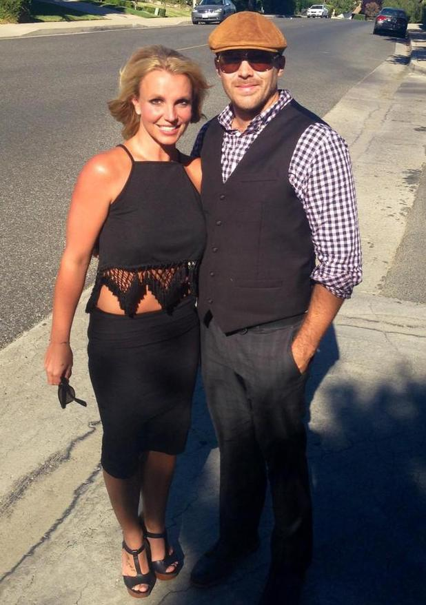 Britney Spears gets glammed up for date with her boyfriend David Lucado (23 July).