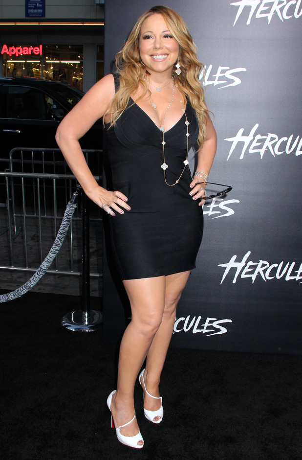 """Mariah Carey at the premiere Of Paramount Pictures' """"Hercules"""" 07/24/2014 Hollywood, United States"""