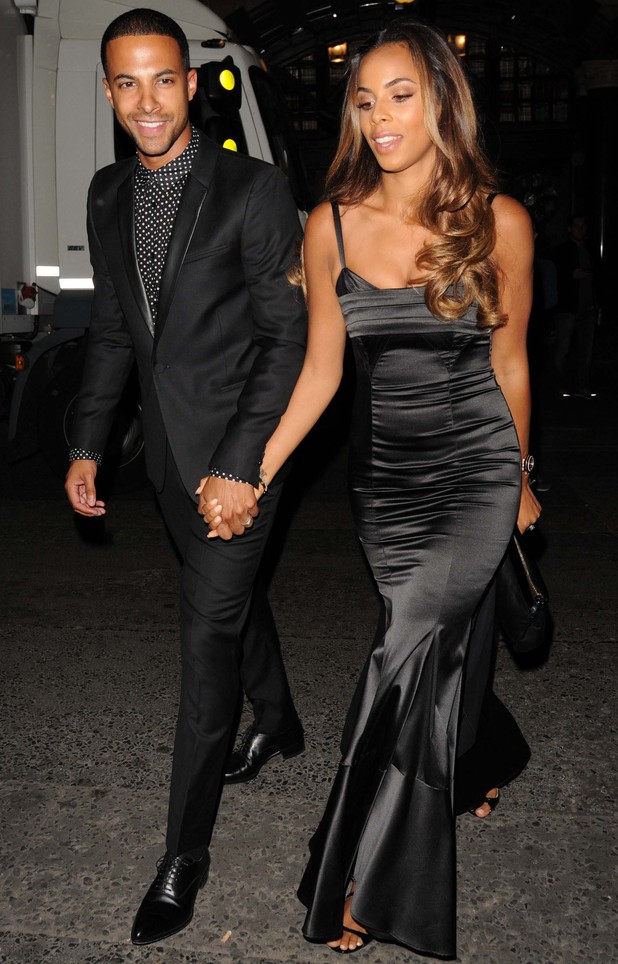 Rochelle and Marvin Humes attend Cheryl Cole Wedding party held at the Library on St Martins Lane - 21 July 2014