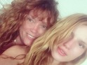 Bella Thorne shows off a no make-up snap alongside her mum, Tamara, 21 July 2014
