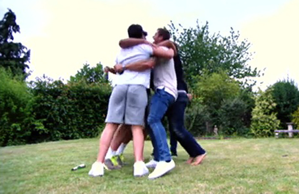 TOWIE: The boys celebrate Arg sleeping with Lydia, 20 July 2014