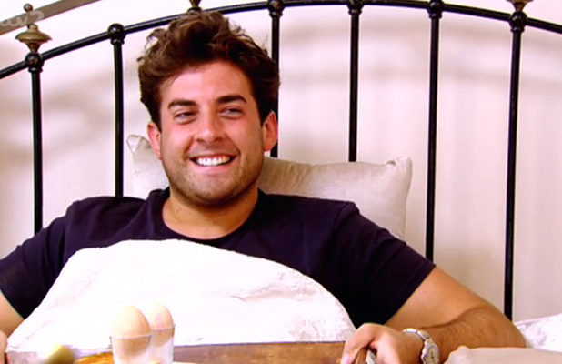 TOWIE: Arg is made breakfast in bed by Lydia after spending the night at her house, 20 July 2014