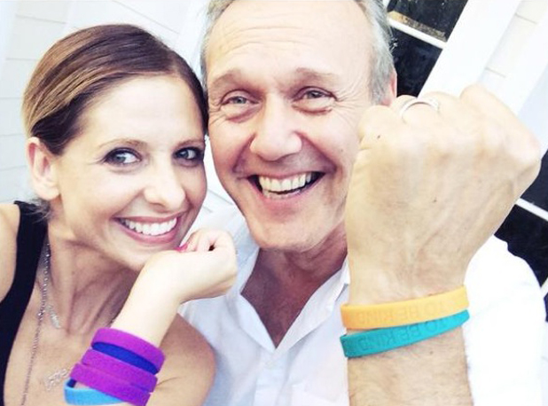 Buffy and Giles reunite! Sarah Michelle Gellar and Anthony Head promote Cool To Be Kind charity, 22 July 2014