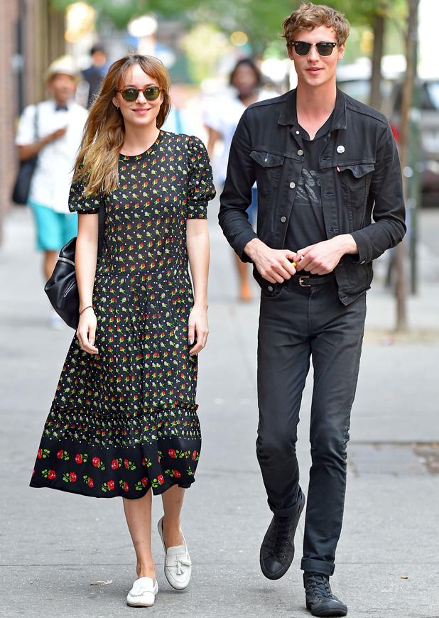 Dakota Johnson and Matthew Hitt out and about, New York, America - 23 Jul 2014