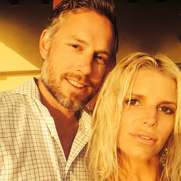 Jessica Simpson and Eric Johnson after their wedding, 20 July 2014