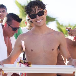 Joey Essex celebrates birthday at Ocean Beach Ibiza 29 July