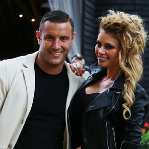 The Only Way is Essex (TOWIE) filming a Grease themed party, Kent, Britain - 27 Jul 2014 Elliot Wright, Chloe Sims