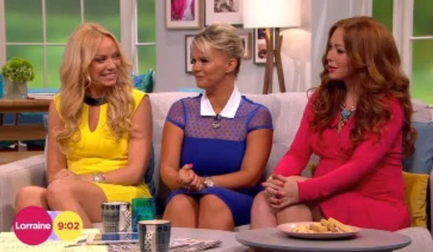 Atomic Kitten appeared on Lorraine, ITV, London 29 July