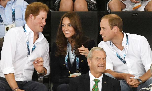 20th Commonwealth Games, Glasgow, Scotland, Britain - 28 Jul 2014 Prince William and Catherine Duchess of Cambridge - Gymnastics