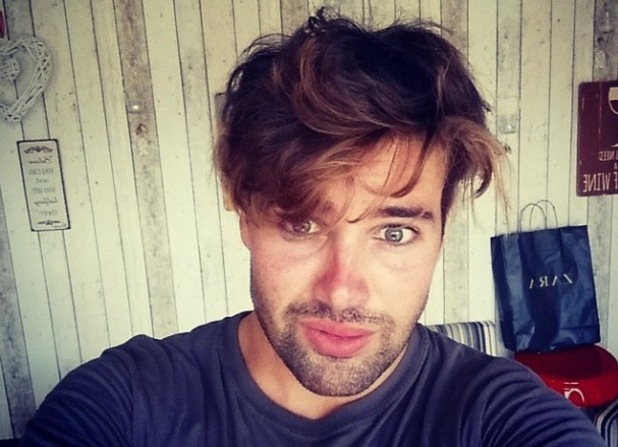 The X Factor's Joe McElderry shows off his gym hair - 1 August 2014