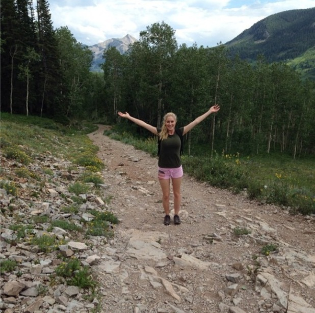 Heidi Montag returns home to Crested Butte, Colorado, 28 July 2014