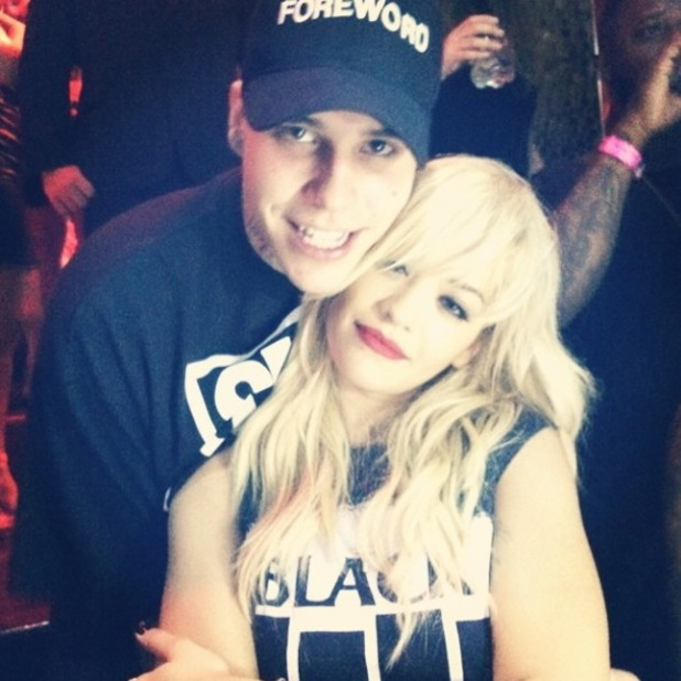 Rita Ora cosies up to Richard Hilfiger - Ricky Hill - in new photo (28 July).