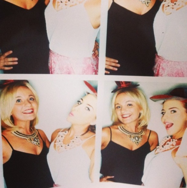 Lydia Bright and Georgia Bright in the photobooth at the truTV launch party in London, England - 31 July 2014