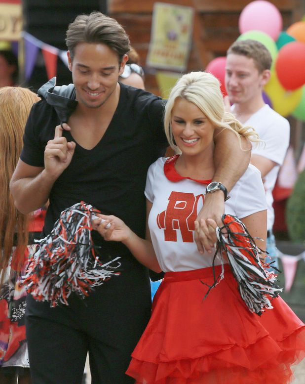 The Only Way is Essex (TOWIE) filming a Grease themed party, Kent, Britain - 27 Jul 2014 James 'Lockie' Lock, Danielle Armstrong