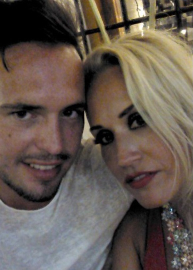 TOWIE's Leah Wright poses with new husband Chris Tayler - 30 July 2014