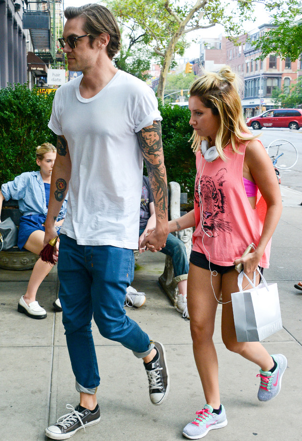 Ashley Tisdale and Christopher French, East Village, New York 31 July