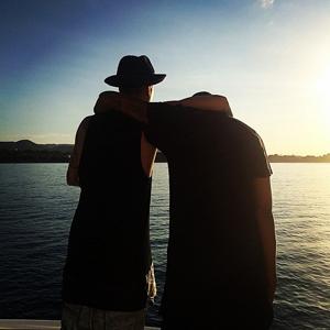 Justin Bieber and Khalil in Instagram post, 30 July 2014