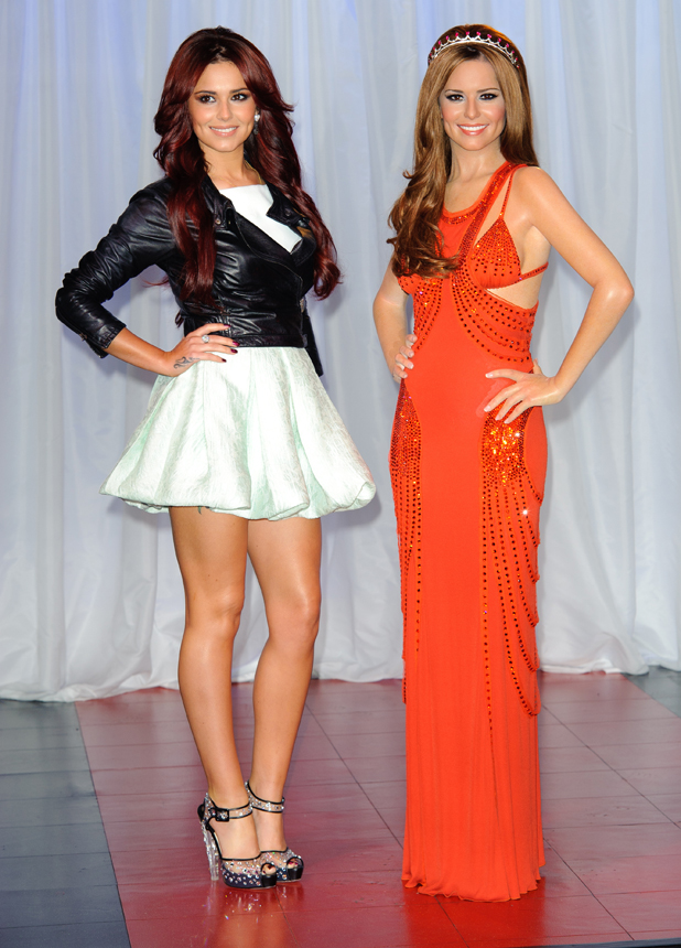 Cheryl Cole unveils her wax figure at Madame Tussauds. London, England - 20.10.10