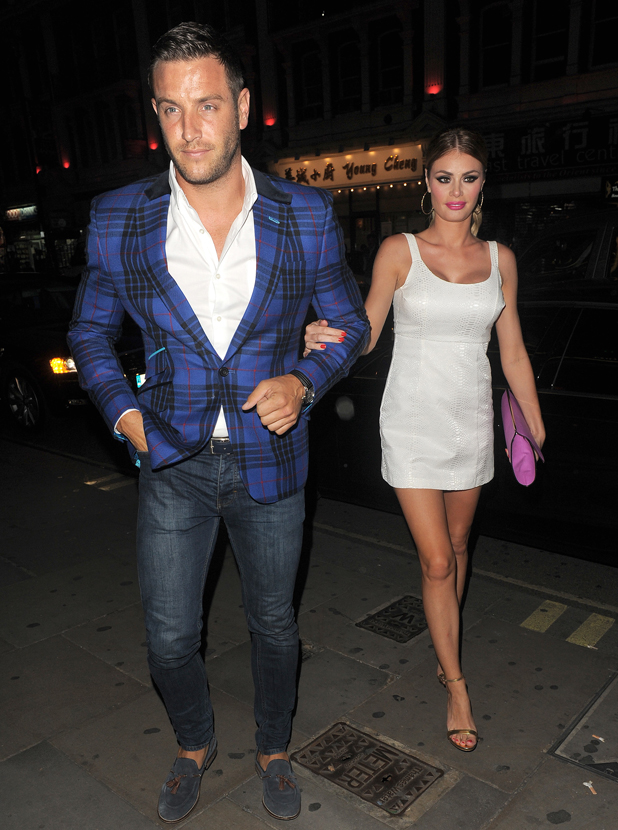 Chloe Sims and Elliott Wright at The Only Way Is Essex Wrap Party, held at Century Club, 30 July 2014