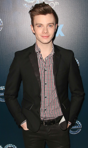 Chris Colfer at the 100th episode celebration of GLEE at Chateau Marmont in West Hollywood, March 2014